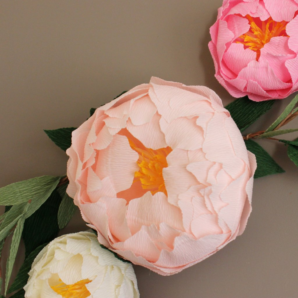 Paper peony flowers for wall decor nursery wall decor ven decor paper peony flowers for wall decor nursery wall decor mightylinksfo