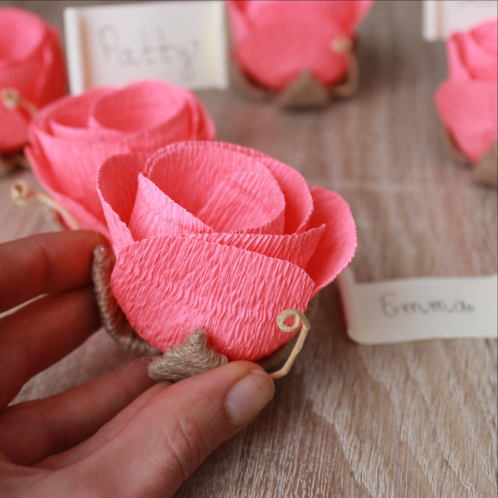wedding flower place name card holders with name cards ven decor handmade
