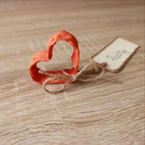Rustic heart name card holders - VEN Decor Handmade - 1