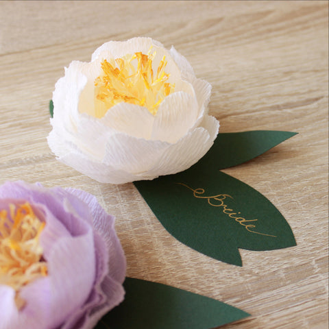 Wedding peony name place card holders - VEN Decor Handmade - 1