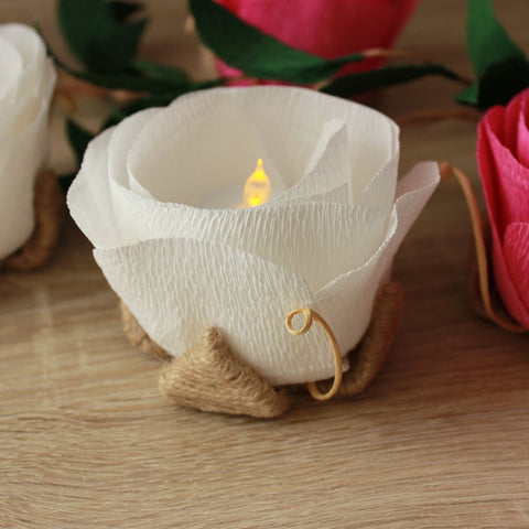 Flower LED holders for wedding or party table decorations - VEN Decor Handmade - 1