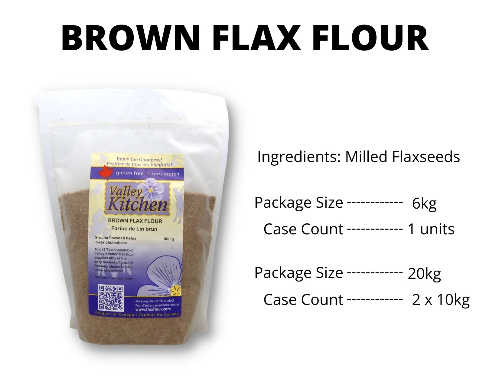 Milled Brown Flax Food Service