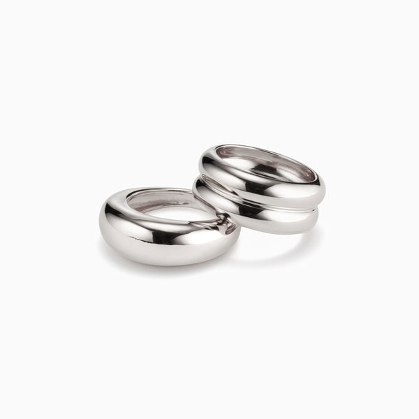Domed Ridge Ring Set