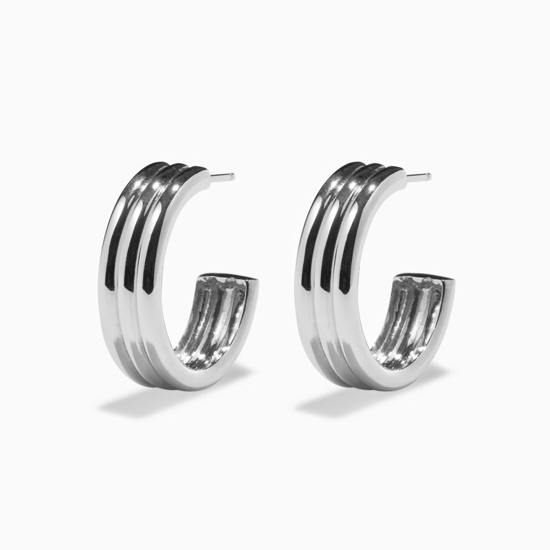 Medium Triple Ridge Hoops