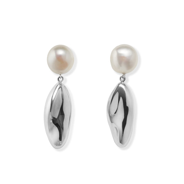 Short Patrice Earrings with Pearls