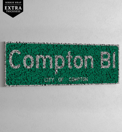 COMPTON - HIP-HOP STREET SIGN