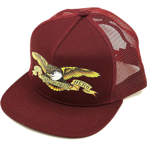 AH EMBROIDED EAGLE SNAPBACK HAT | MAROON |