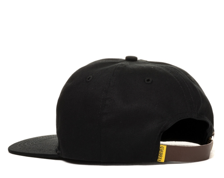 KROOKED EYE EMB STRAPBACK HAT | BLACK |