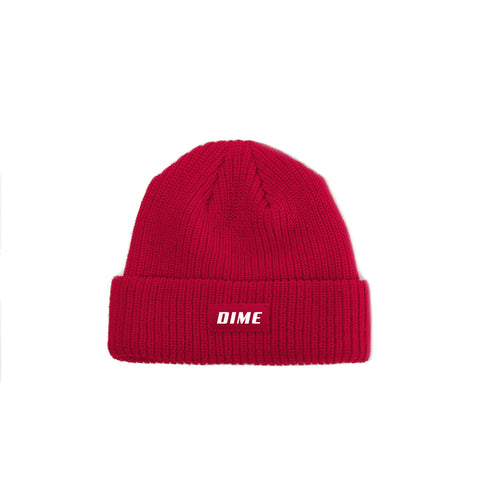 DIME HEAVYWEIGHT BEANIE | RED |