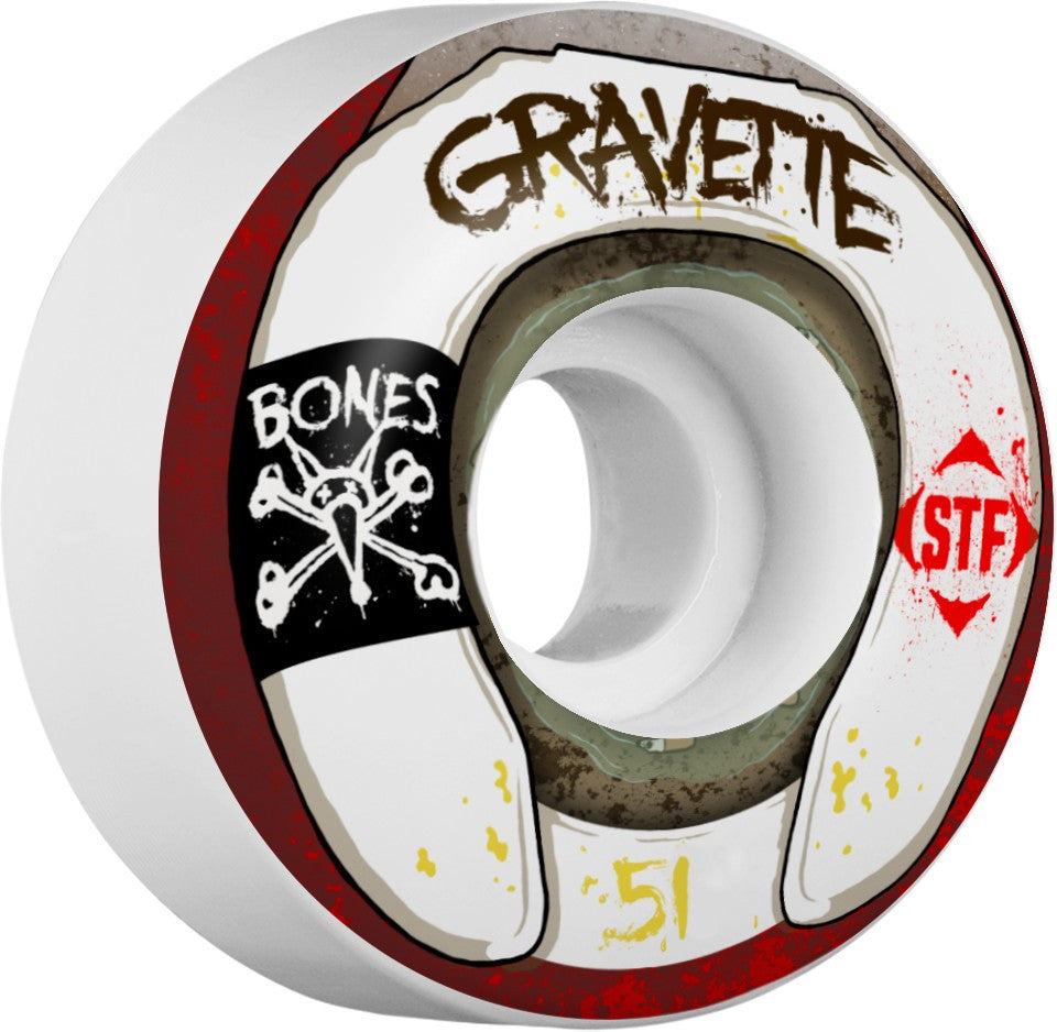 BONES WHEELS STF PRO GRAVETTE WASTED LIFE 83B V2 | 51MM |