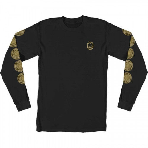 SF BIGHEAD SWIRL LONG SLEEVE SHIRT | BLACK |