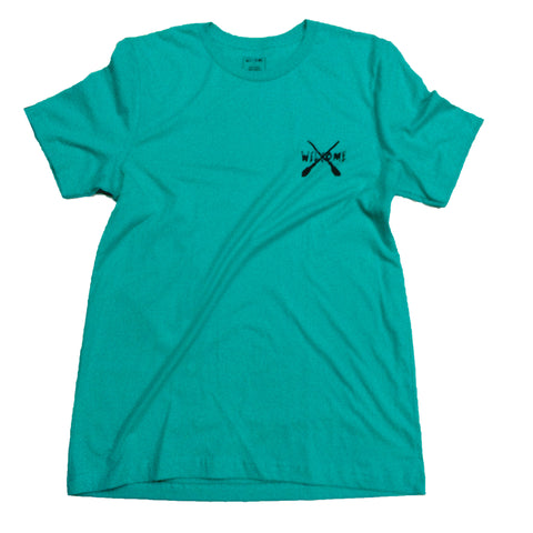 WELCOME BROOMSTICK T-SHIRT | TEAL |