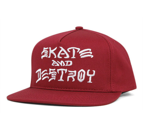 THR SAD EMBROIDER SNAPBACK | RED |