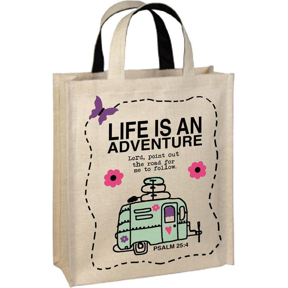 Life Is An Adventure-Inspirational-Tote Bag