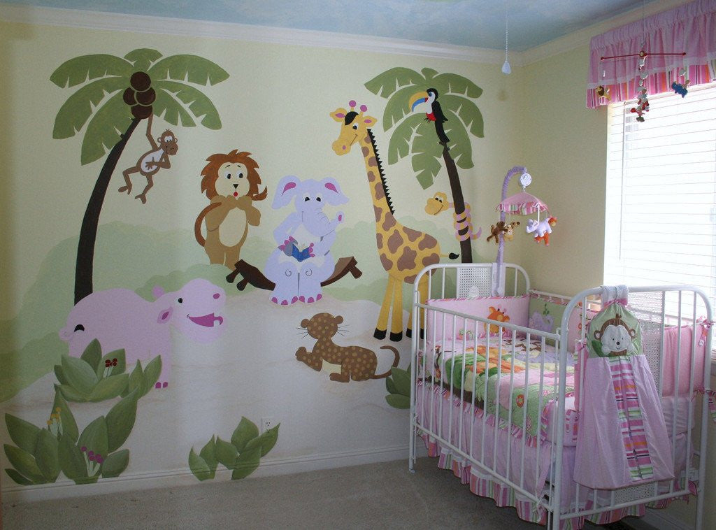 Jungle Story, a DIY Paint by Number Wall Mural by Elephants on the Wall - Expressions of Home