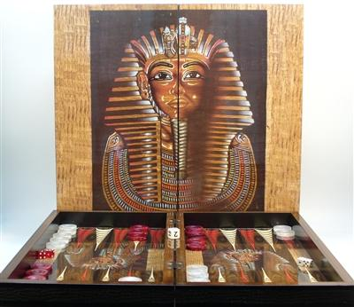 Backgammon-Family Game-20 inch-King Tut-Decoupage