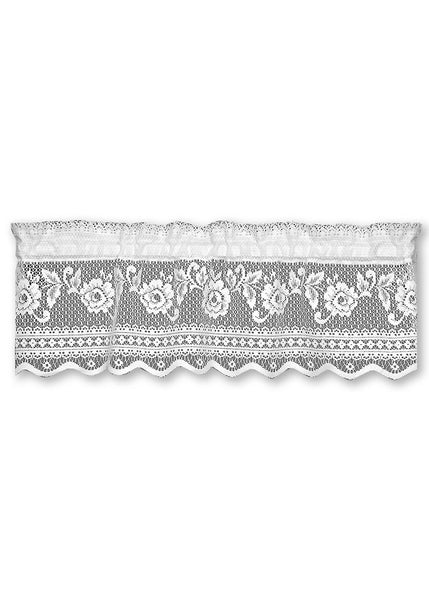 Curtain-Insert Valance-Victorian Rose-Heritage Lace