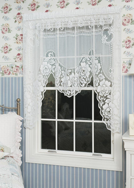 Curtain-Swag-One Piece-60 x 48-Heritage Lace-Victorian Rose