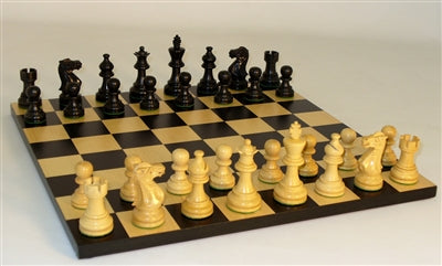 Chess Set-Black-American-Emperor Men-Black-Maple Board