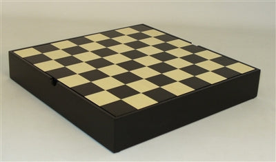 Chessboard-Veneer Chest-13 OR 16 inch-Black-Maple