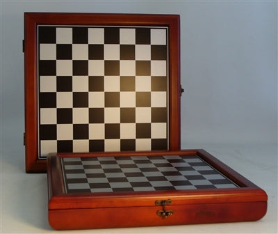 "Chessboard-15.5"" Chest-Cherry Stained"
