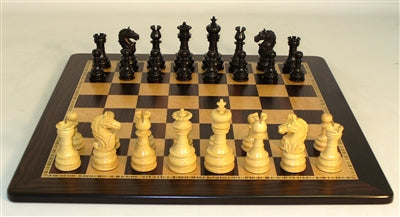Chess Set-Black Lotus-Ebony Birdseye Maple Board