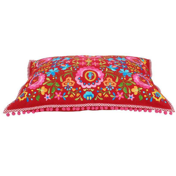 Folklore Embroidered Lumbar Pillow Cover from Heritage Lace - Seasonal Expressions