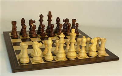 Chess Set-Jumbo Staunton Men-Ebony Veneer Board
