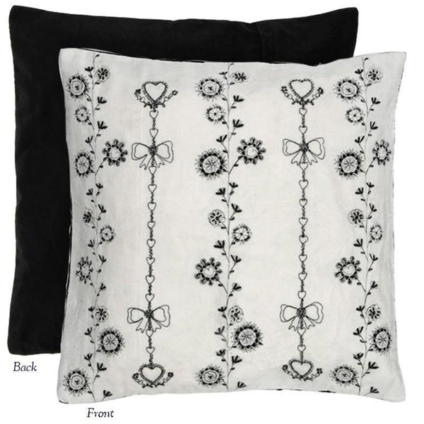 "Floral Chain 20"" x 20"" Pillow Cover by Miss Blackbirdy from Heritage Lace - Seasonal Expressions"