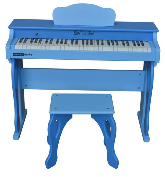 My First Piano Tutor 61 Key Digital Upright for Ages 6 and Up by Schoenhut - Seasonal Expressions - 1