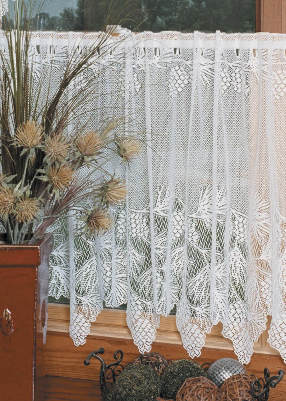 Curtain Tiers-White-Choice-Size-Heritage Lace-Woodland