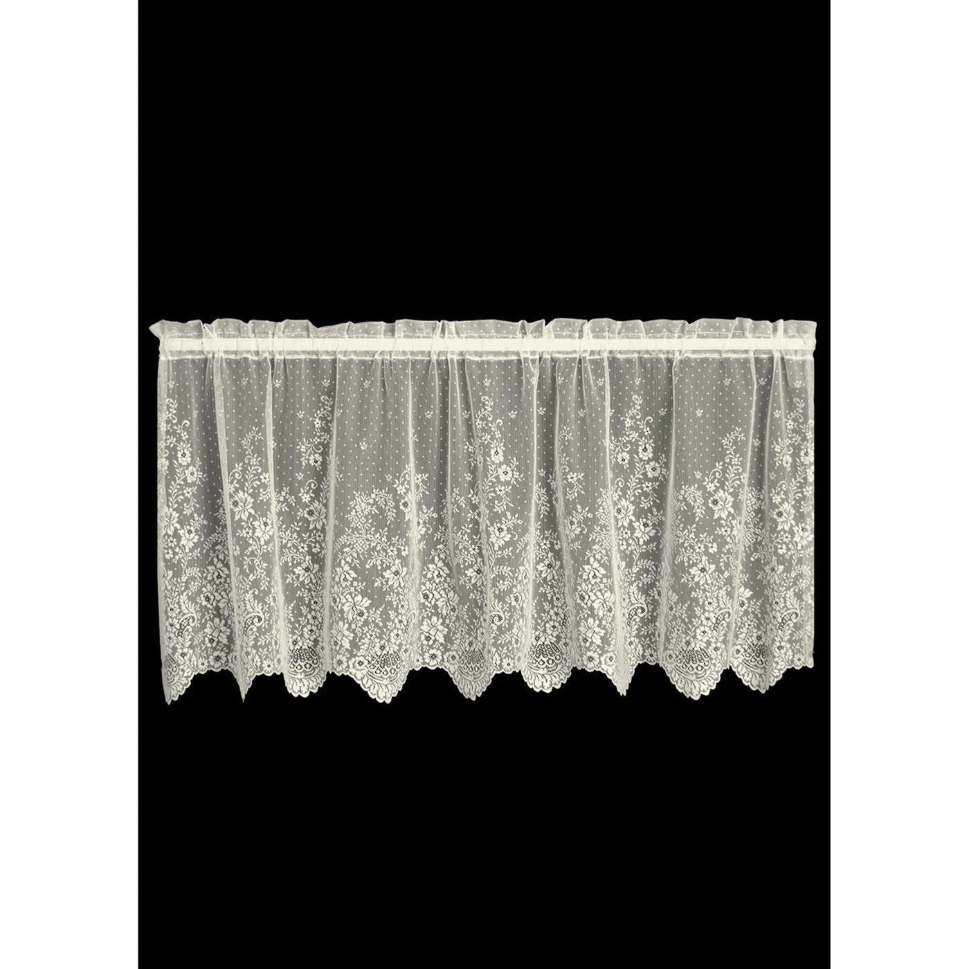 """Floret"" Tier Curtains, 2 Pairs of Beautiful Window Coverings from Heritage Lace - Seasonal Expressions - 2"