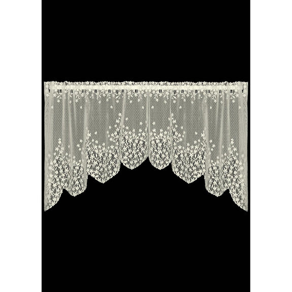 "Blossom, 48"" x 22"" Swag in Ecru Or White from Heritage Lace - Seasonal Expressions"