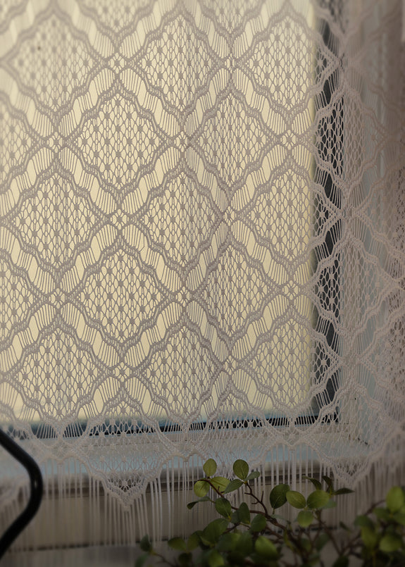 Curtain Panel-Heritage Lace-Diamond Fringe