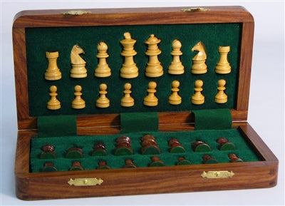"Chess Set-10""-Folding-Magentic-Wood"