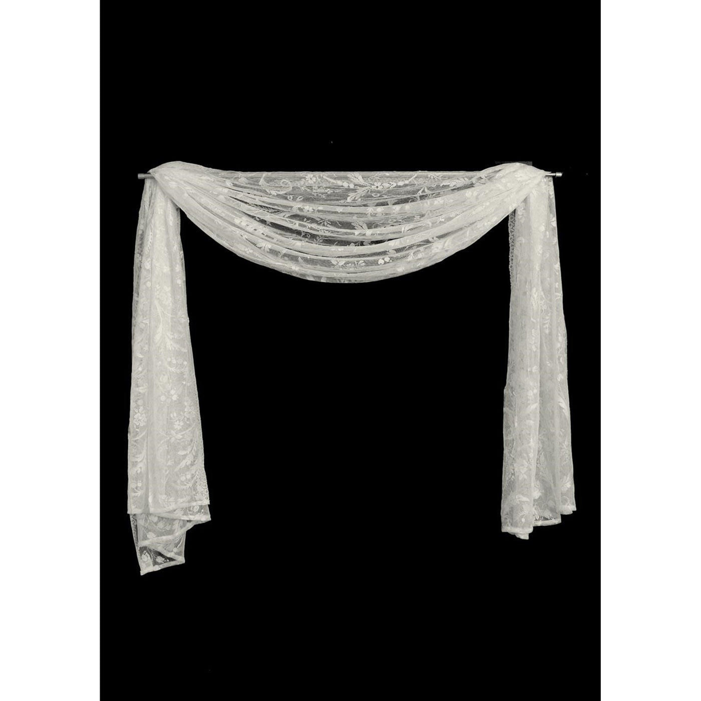 "Set of 2  45"" x 126"" Coventry Drape Scarves from Heritage Lace - Seasonal Expressions"
