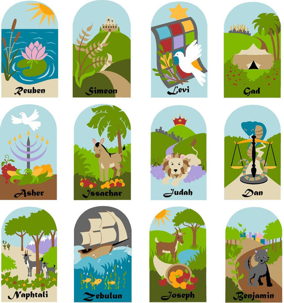 Twelve Tribes Of Israel, a DIY Paint by Number Wall Mural by Elephants on the Wall - Expressions of Home