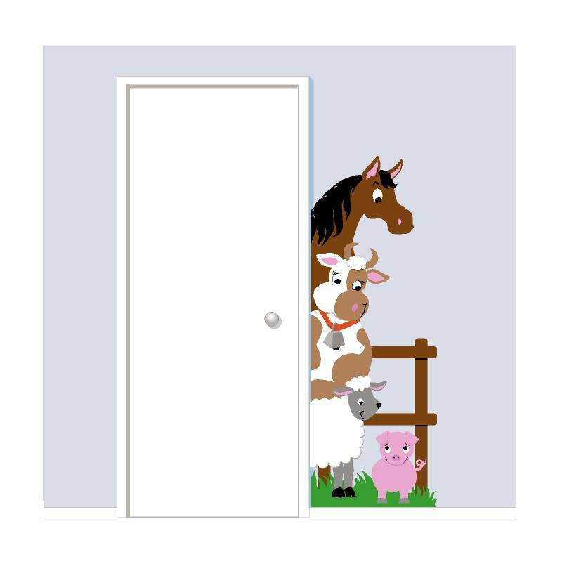 Barnyard Doorhugger Wall Mural by Elephants on the Wall - Expressions of Home