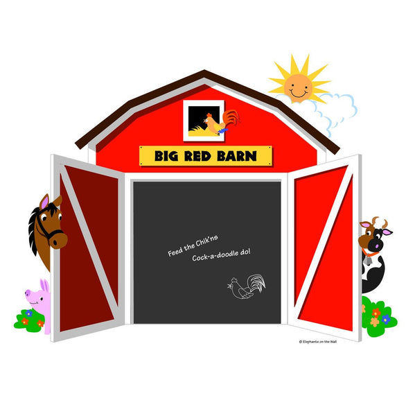 Big Red Barn, a DIY Paint by Number Wall Mural by Elephants on the Wall - Expressions of Home