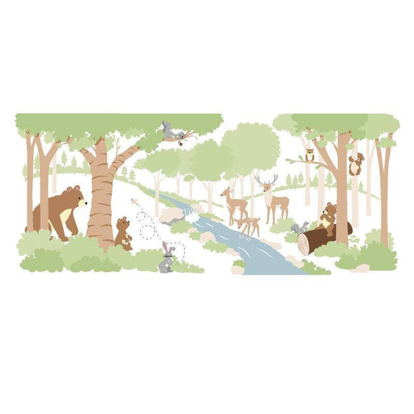 Forest Friends, a DIY Paint by Number Wall Mural by Elephants on the Wall - Expressions of Home