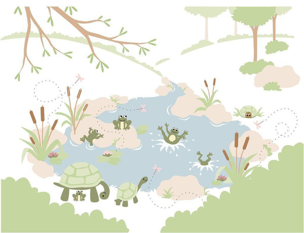 Frogs'n Turtles DIY Paint by Number Wall Mural by Elephants on the Wall - Seasonal Expressions