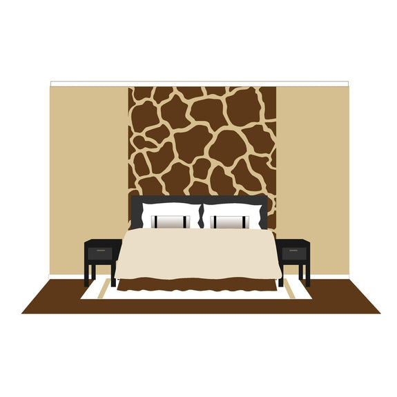 Giraffe Spots, a DIY Paint by Number Wall Mural by Elephants on the Wall - Seasonal Expressions - 1