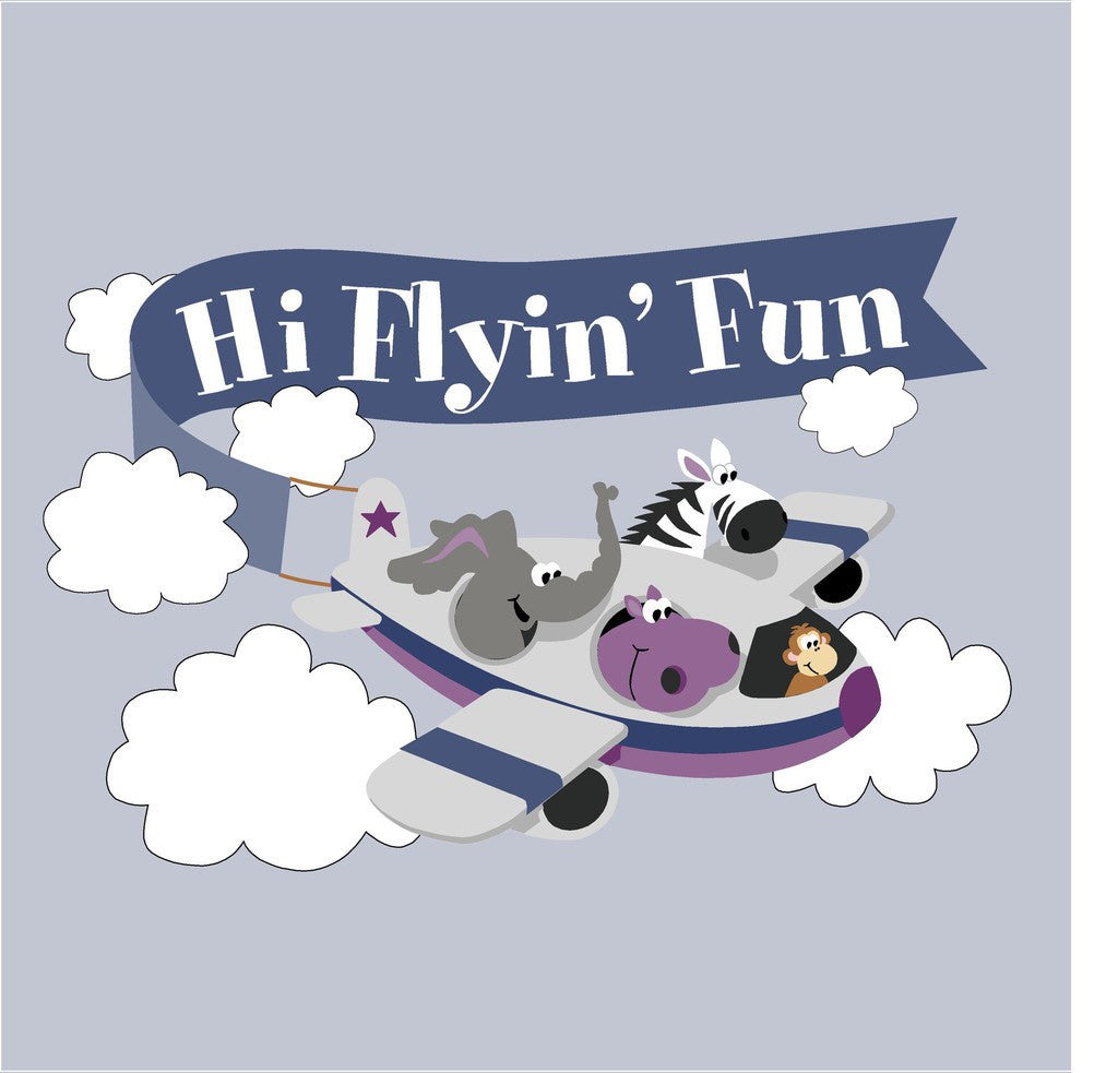 Hi Flyin' Fun, a DIY Paint by Number Wall Mural by Elephants on the Wall - Expressions of Home
