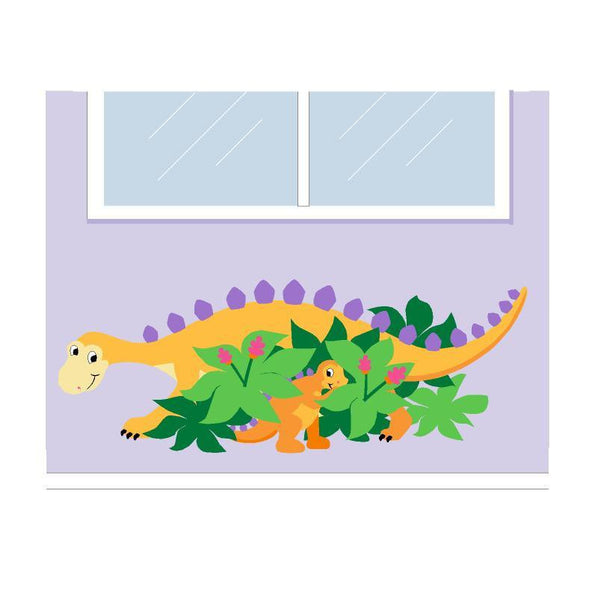 Hide 'n Seek-A-Saurus, a DIY Paint by Number Wall Mural by Elephants on the Wall - Seasonal Expressions - 1