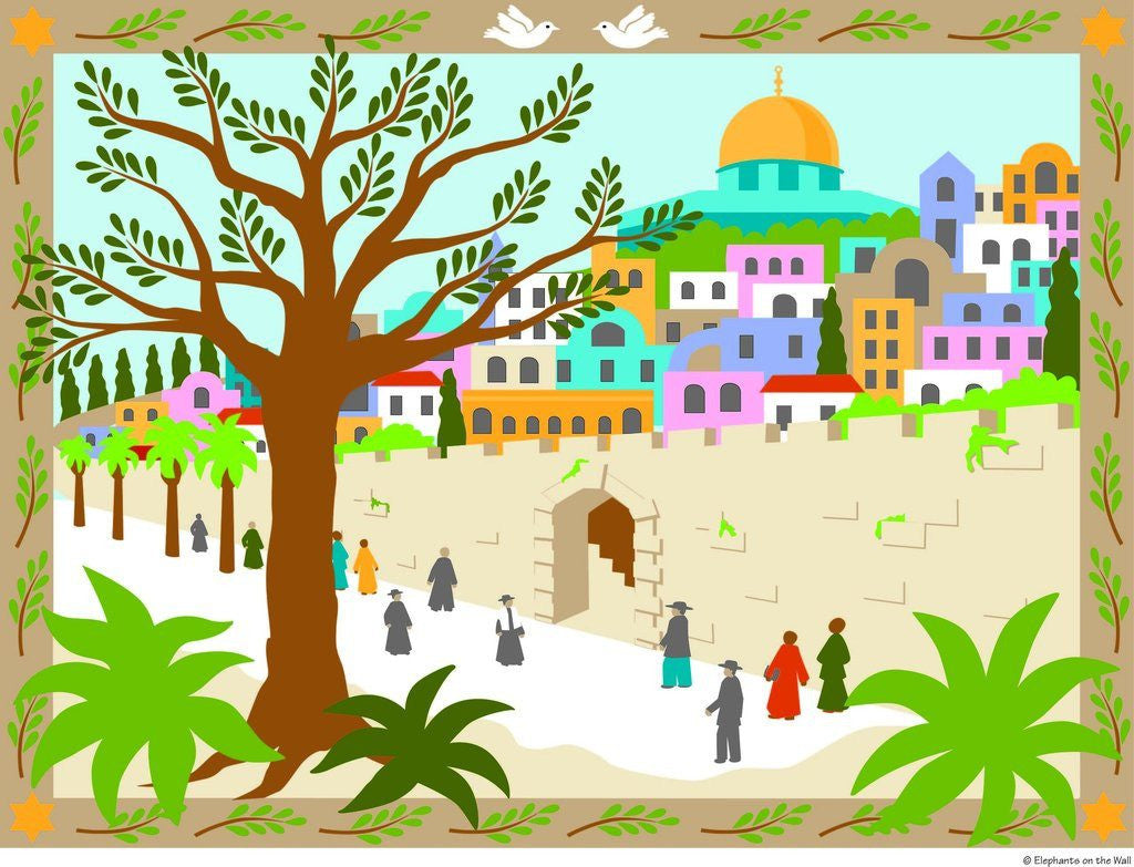 Jerusalem DIY Paint by Number Wall Mural by Elephants on the Wall - Seasonal Expressions - 1