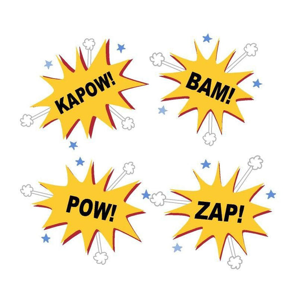Kapow Bam Pow Zap DIY Paint by Number Wall Mural by Elephants on the Wall - Seasonal Expressions