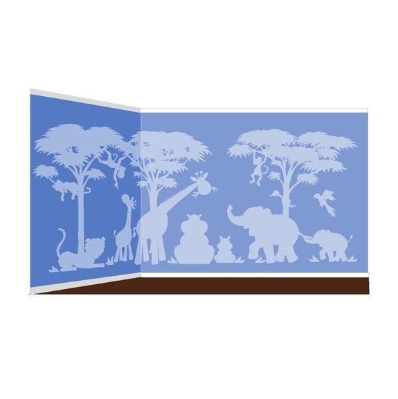 Silhouette Safari, a DIY Paint by Number Wall Mural by Elephants on the Wall - Seasonal Expressions - 4