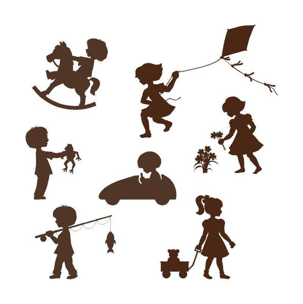 Silhouette Kids Mini DIY Paint by Number Wall Mural by Elephants on the Wall - Seasonal Expressions