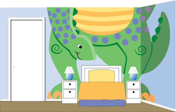 Mega Dino, a DIY Paint by Number Wall Mural by Elephants on the Wall - Seasonal Expressions - 2