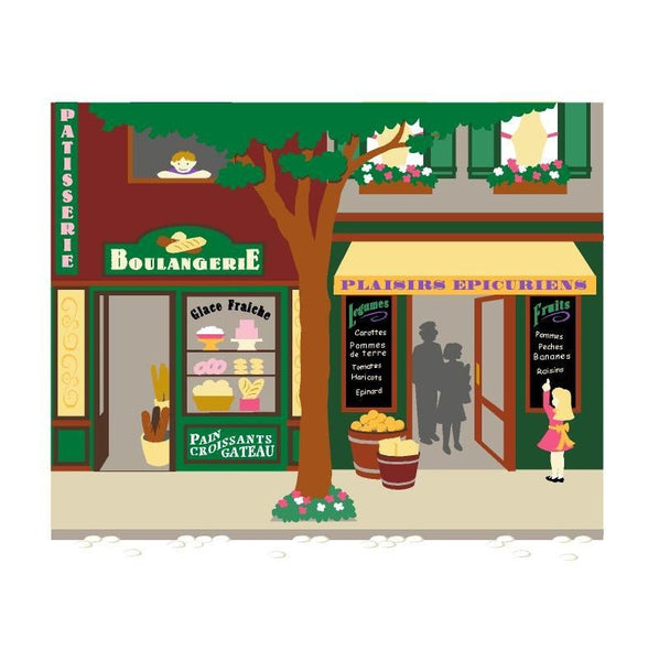 Paris Pastry and Grocery Store DIY Paint by Number Wall Mural by Elephants on the Wall - Seasonal Expressions - 1